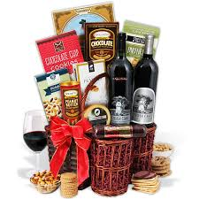 wine basket silver oak duo wine gift basket by gourmetgiftbaskets