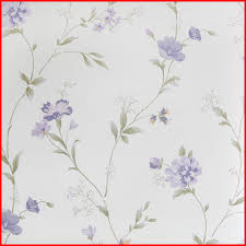 natural flowers design non woven country style wallpaper in