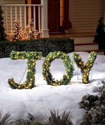 Joy Christmas Decorations Outdoor by Jingle All The Way With These Outdoor Christmas Decorations
