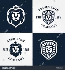 set lion logo templates your business stock vector 220323184