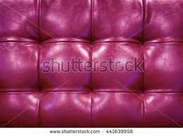 vintage pink leather upholstery buttoned sofa stock photo