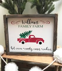 personalized christmas family farm sign custom christmas