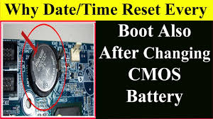 resetting computer battery why after changing cmos battery date time reset solved bios
