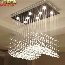 Rectangular Chandelier With Crystals Discount Rectangular Crystal Lamp Living Room Lights Restaurant