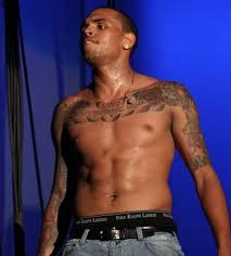 chris brown chest tattoos