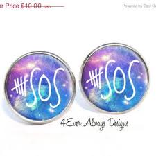 seconds earrings on sale 5 seconds of summer galaxy from 4everalwaysdesigns on