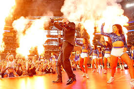 fireball pitbull during the thanksgiving halftime show