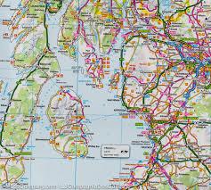 Map Of Glasgow Scotland Map Of Scotland Tour 12 Ordnance Survey U2013 Mapscompany