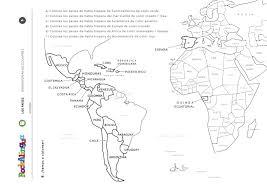 Map Worksheets Spanish Speaking Countries Worksheet Rockalingua