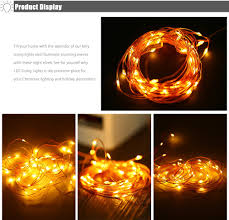 Starry String Lights Amber Lights On Copper Wire by Ywxlight 5m Led Christmas Fairy Lights Battery Powered Copper Wire