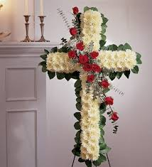 sorrow cross standing cross with roses in fulton ny designs