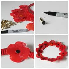 melted wax poppy craft a remembrance day activity poppy wreath