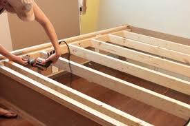 wood bed frame plans king easy u0026 diy wood project plans for king