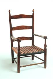 Childs Antique Chair Shaker Child U0027s Chair American 2nd Half 19th Century Ladderback