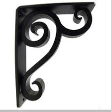 decorative vines cast iron shelf bracket 10 1 8 x 11 3 4