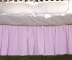 french blue crib skirt gathered ruffle adjustable