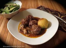 cuisine de soulef la cuisine de messidor boulettes de veau à la bourguignonne