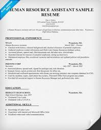 Human Resource Resume Sample by Human Resource Assistant Resume Sample Resumecompanion Com Hr