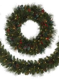 greenbrier mountain pine artificial christmas wreath balsam hill