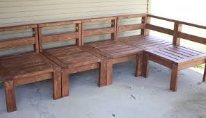 Building Outdoor Wooden Tables by 5 Diy Outdoor Sofas To Build For Your Deck Or Patio The