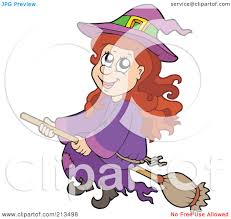 royalty free rf clipart illustration of a cute halloween witch