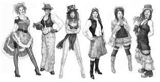 steampunk fashion studies by built4ever on deviantart