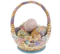 jim shore easter baskets jim shore heartwood creek annual easter basket page 1 qvc