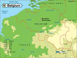 physical map of belgium belgium physical map by maps from maps world s largest