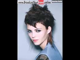 gallery big short choppy punk mullet haircut for girls youtube
