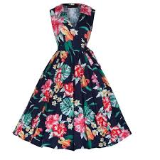 flower dress pippa navy flower dress vintage inspired fashion lindy bop