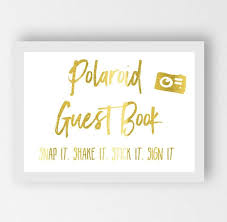 poloroid guest book gold wedding sign polaroid guest book diamond peppa
