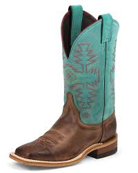 s boots justin justin s bent rail 11 boots turquoise rust
