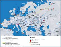 Europe And Russia Map by Gas Pipelines Of Europe And Russia