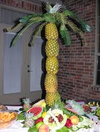 pineapple palm tree centerpieces recent weddings pinterest