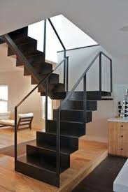 modern handrail designs that make the staircase stand out metal