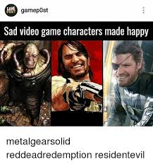 Metal Gear Solid Meme - game gamepost post sad video game characters made happy