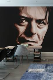 20 best movies music and celebrity wall murals images on david bowie wall mural