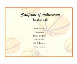 8 basketball certificate templates download free documents in