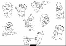magnificent despicable minions coloring pages minions