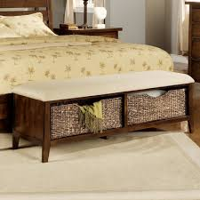 Bedroom Storage Bench Storage Bench Inspire At Home Industrial Style Double Bench