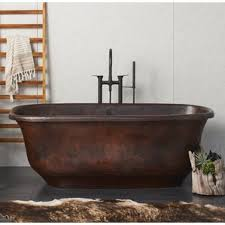 copper tubs freestanding bathtubs you ll wayfair