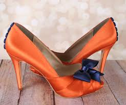 wedding shoes navy blue burnt orange wedding shoes with navy blue bow and matching buttons