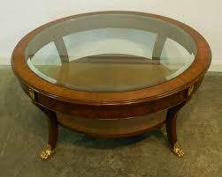 Rustic Mahogany Coffee Table Astounding Small Mahogany Coffee Table With Glass Top Brass