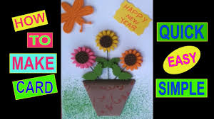 Card Making For Children - easy and quick new year card card making competition in