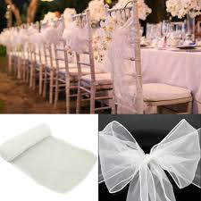 chair sashes for wedding 75pcs 7 x 108 chair cover sashes 30 colors organza material