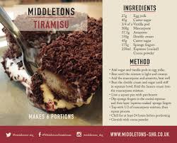 mojito recipe card middletons tiramisu recipe middletons