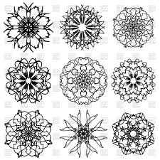 ornamental snowflake patterns vector clipart image 90644 rfclipart