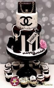 Chanel No 5 Birthday Cake