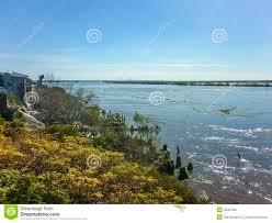 Parana River Map Parana River Landscape In Rosario Argentina Stock Photo Image