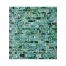 american olean visionaire peaceful sea brick mosaic glass wall